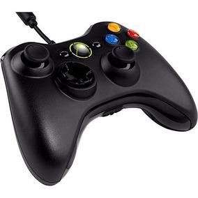 Controle Xbox 360 / Pc Com Fio Slim Preto Xbox Original Feir