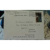 Carta Sobre Estampillas Estados Unidos Italia 2012.