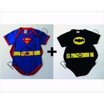 Kit Body 2 Peças Super Homem + Batman