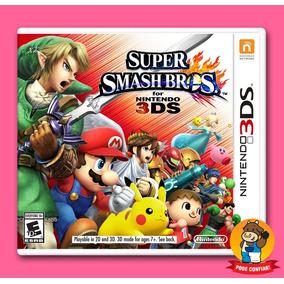 Super Smash Bros Nintendo 3ds Mídia Física Pronta Entrega
