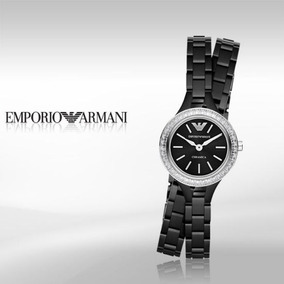 Reloj Mujer Emporio Armani Ceramica Negro Ar1483 Meses