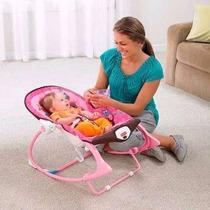 Cadeira De Descanso E Balanço Fisher Price Sonho Rosa Com Fu