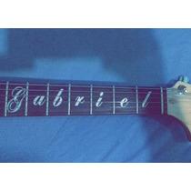 Marcadores De Escala Seu Nome Personalizado Guitarraviolão