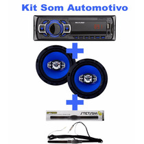 Kit Som Automotivo Aparelho Multilaser Falnte Antena Stetsom