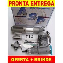 Motor Glow Asp 52 2t Rolamentado P/ Aeromodelo + Brinde