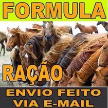 10 Formulas Ração Equinos + 10 De Sal Mineral Equino