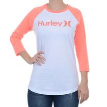 Blusa Hurley Feminino Inverno Raglan