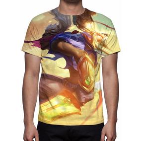 Camisa, Camiseta League Of Legends Ekko Tempestade De Areia