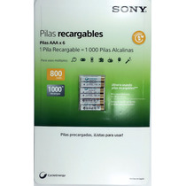 6 Pilas Recargables Aaa Ni-mh Sony Cycle Energy 800 Mah
