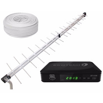 Kit Tv Digital - Conversor Ekotech E Antena Uhf Super Log