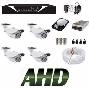Kit 4 Cameras Ahd 960p 1.3mp Dvr 8 Canais Ahdm Sup Luxvision