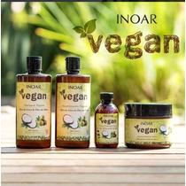 Kit Inoar Vegan Sh+cond+másc+óleo Coco Vegano 100% Natural