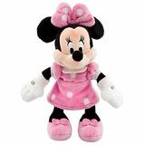 Minnie Mouse Pelúcia Original Disney Store Vestido Rosa 24cm