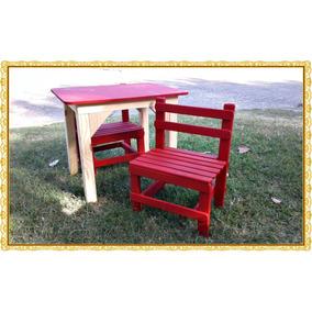 juego de mesa mas sillas madera para nios consultar color