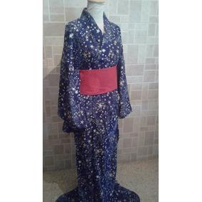 Yukata Kimono Japonés Adulto Mujer Hombre Talle Xl
