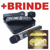 Videokê Pro 850 C/200 Músicas, 2 Microfones S/fio+1600 Cr.