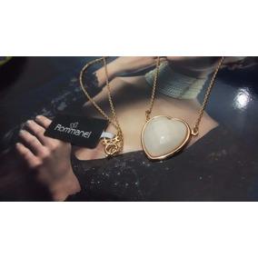 Rommanel Cordão Gargantilha Coração Nude Fo Ouro 45cm 531225