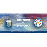 Entradas Argentina Vs Paraguay - Popular Willington