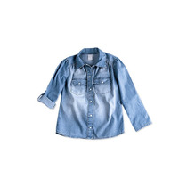 Camisa Jeans Infantil Feminina Hering Kids Manga Longa