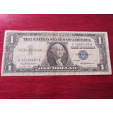 Billete One Dollar Certificado Plata Blue Seal 1957