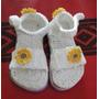 Sandalias De Bebe A Crochet Con Flores