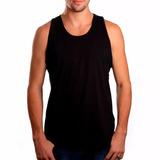 Camiseta Regata Masculina Lisa Básica Sem Estampa Algodão