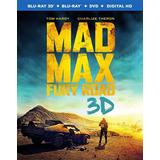 Blu-ray Mad Max Fury Road / Furia En El Camino 3d + 2d + Dvd