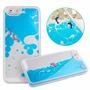 Funda 3d Liquida Con Color Y 2 Delfines Iphone 5/5s