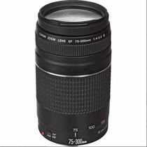 Lente Canon Ef 75-300mm F/4-5.6 Iii Autofoco - 12x Sem Juros