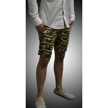 Shorts John Leopard Camo Slim Fit Chinos 2015 Militar