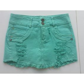 Mini Saia Jeans Desfiada S/ Laycra ( Short Saia )tamanho 38