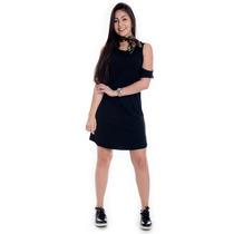 Vestido Básico Amplo Com Recortes - Kam Bess - Ve1652