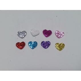 Aplique Coração Pequeno Em Eva Glitter - Pac. 150 Unidades