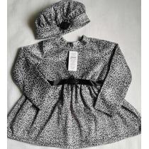Vestido Infantil Frio Festa Casaco Aniversário + Boina