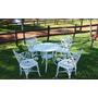 Conjunto Cadeiras Primavera Para Jardim E Casa Em Aluminio