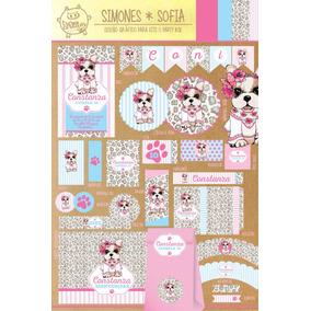 Kit Imprimible Simones Sofia Nena Candy Bar Cumpleaños