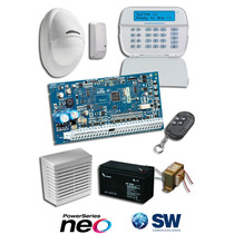 Kit Alarma Dsc Power Series Neo Inalambrico Teclado Full