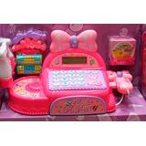 Hermosa Caja Registradora Para Niñas Con Moño Y Sonidos