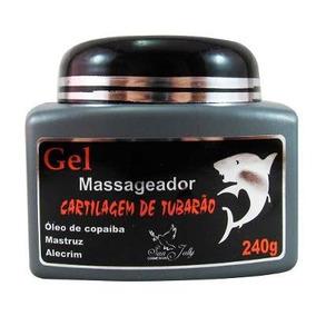Gel Massageador Cartilagem De Tubarão Sanjully Cx 72uni 240g