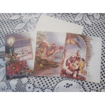 Tarjeta Navideña Vintage Antigua