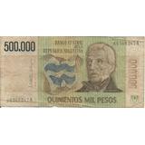 Billete 500.000 Pesos Argentinos Serie A