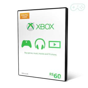 Microsoft Gift Card Points Cartão Xbox R$60 (r$30+30) Reais