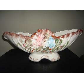 Antiga E Requintada Floreira Em Porcelana