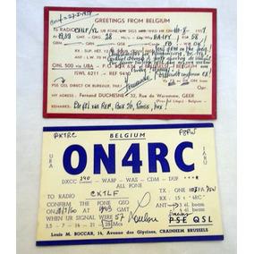 Qsl Radio Aficionado Tarjetas Belgica - Florida 1960