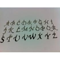 Dije Alfabeto Letra En Plata 925, Chica