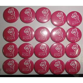 Boton Outubro Rosa - 4,5 Cm