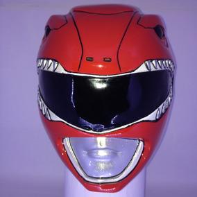 Capacete Power Rangers Vermelho Cosplay Mmpr