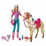 Juguete Barbie Doll Y Tawny Caballo Playset