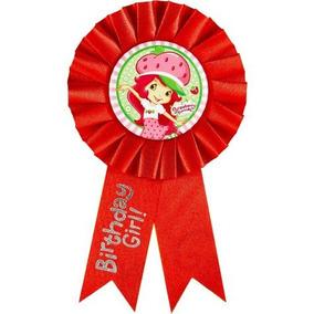Rosita Fresita Distintivo Pin Fiesta Infantil Decoracion Gir