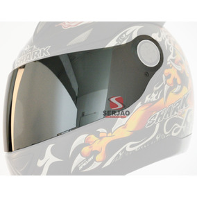 Viseira Shark S500 S500 Air Rsf2 Rsf3 Espelhada Cromada